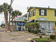 Crepe Myrtle Inn/Lancer sign