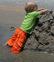 Kenan's first sandcastle